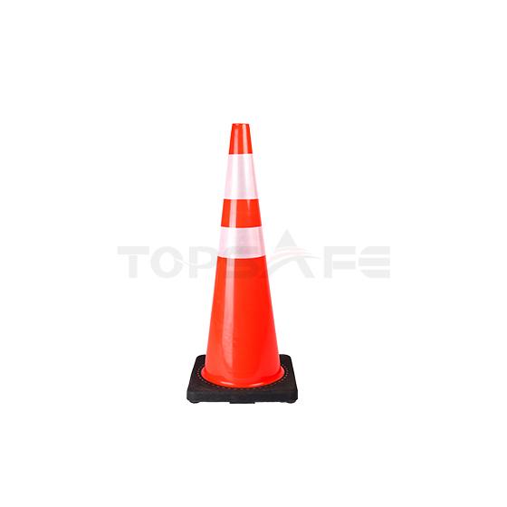 90cm Black Base Wide Body PVC Traffic Cones