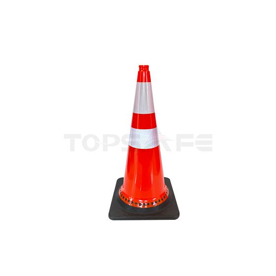 75cm Black Base PVC Traffic Cones