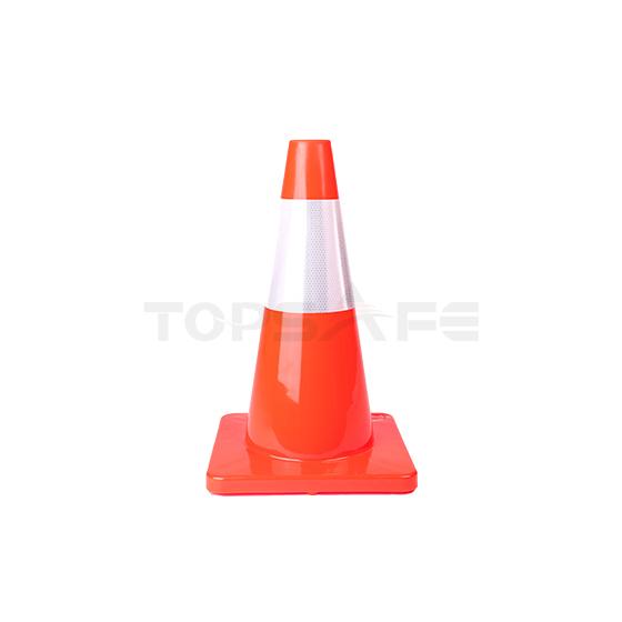 45cm Orange Solid PVC Traffic Cones