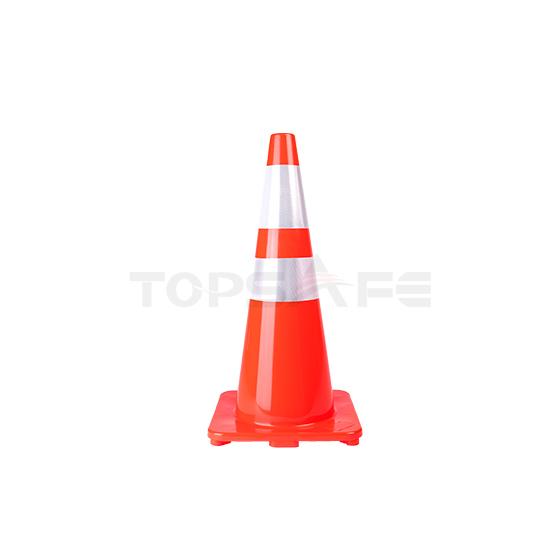 70cm Slim Body Orange Solid PVC Traffic Cones