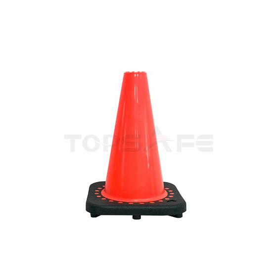 30cm Black Base PVC Traffic Cones