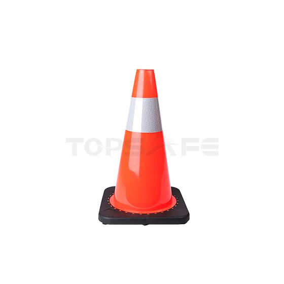 45cm Black Base PVC Traffic Cones